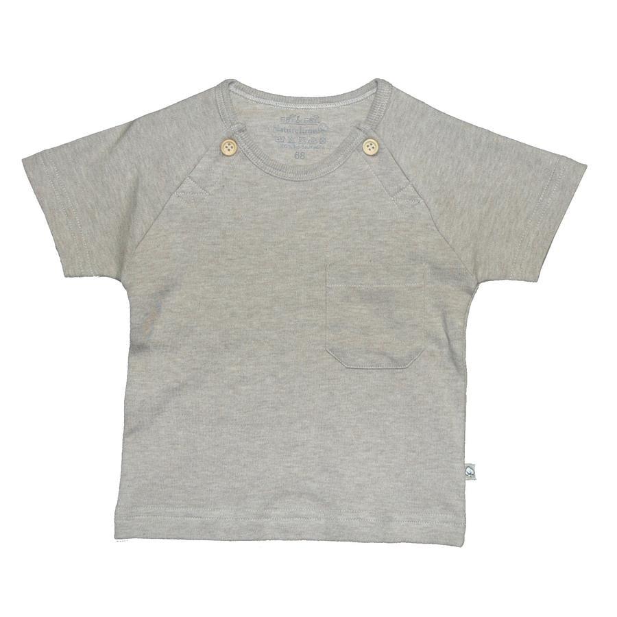 EBI & EBI Fairtrade Bluzka z krótkim rękawkiem beige melange