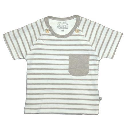 EBI & EBI Fairtrade beige T-Shirt melange strepen