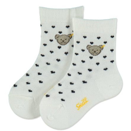 Steiff Girls Socken Heart weiß-navy