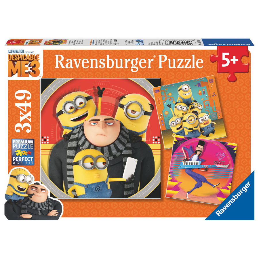 Ravensburger Puzzle 3 x 49 - Eventyr med Minions