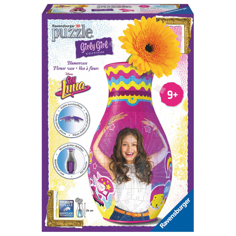 Ravensburger 3D Puzzle Girly Girl Edition: Blumenvase - Soy Luna
