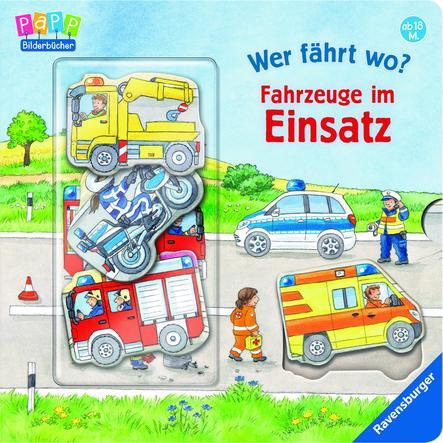 Ravensburger PaPP Bilderbücher - Wer fährt wo? Fahrzeuge im Einsatz
