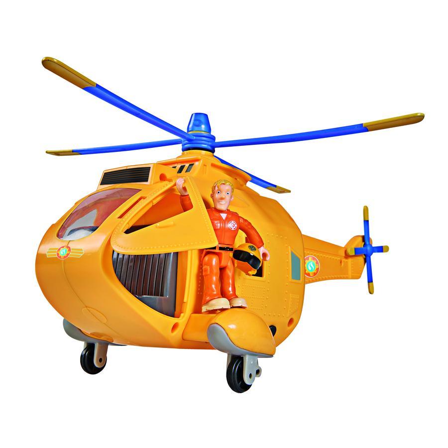 SIMBA Hasič Sam - Vrtulník Wallaby II s figurkou
