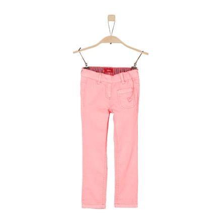 s.Oliver Girl s Spodnie neonowy różowy regularny