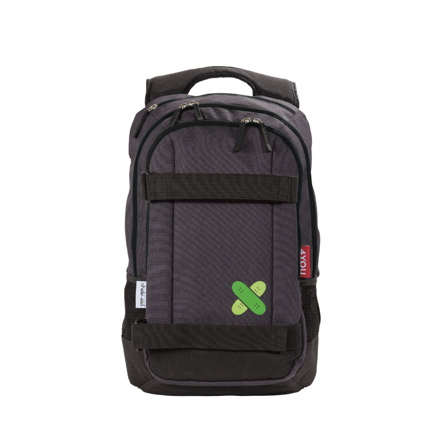 4YOU skate-aid Skateboard Rucksack 187-00 Black
