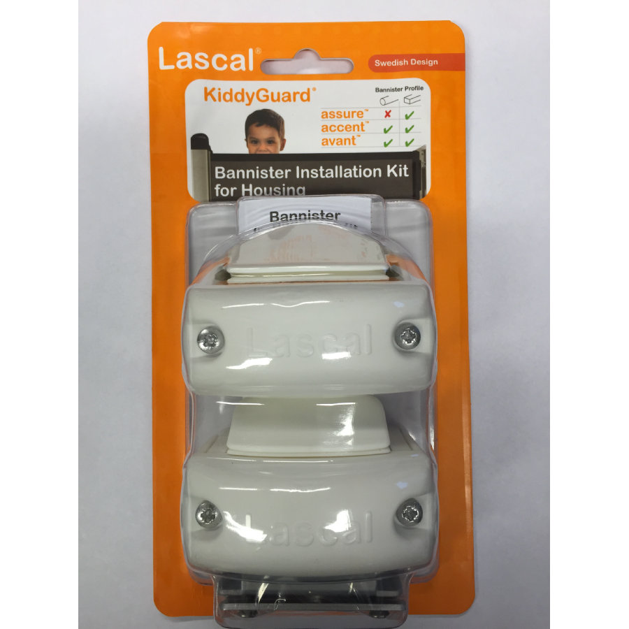 LASCAL Kiddy Guard avant Monteringssats för trappräcke, vit