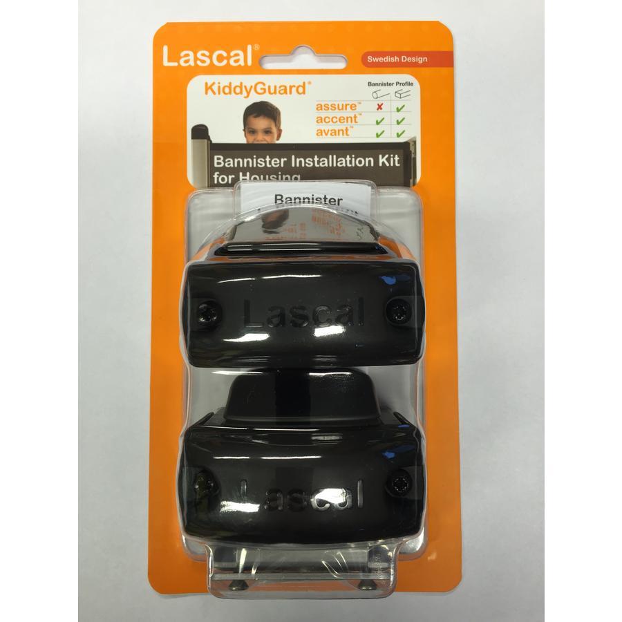 Lascal Vægmonteringssæt Rollerside til Kiddy Guards sæt 2 stk. sort
