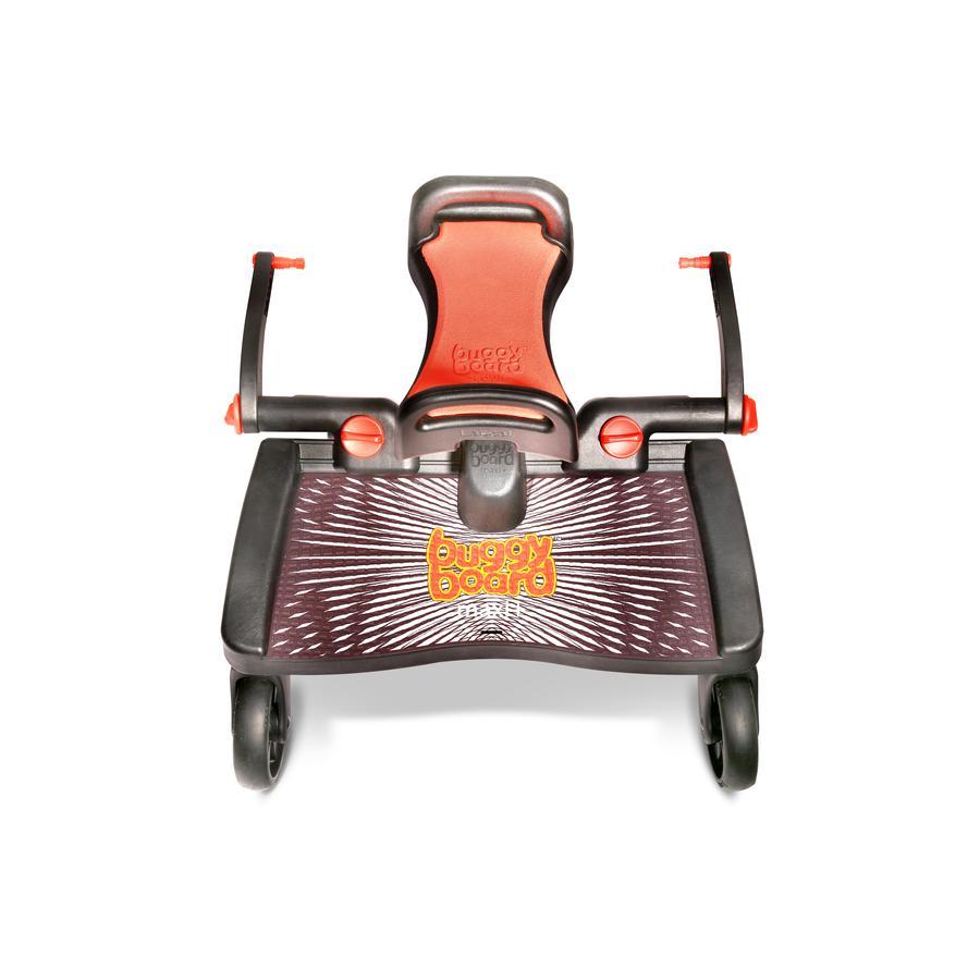 Lascal Planche à roulettes Buggy Board Maxi+ noir, assise rouge