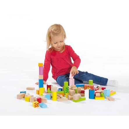 EICHHORN Color, dřevěné stavící kostky, 50 kusů