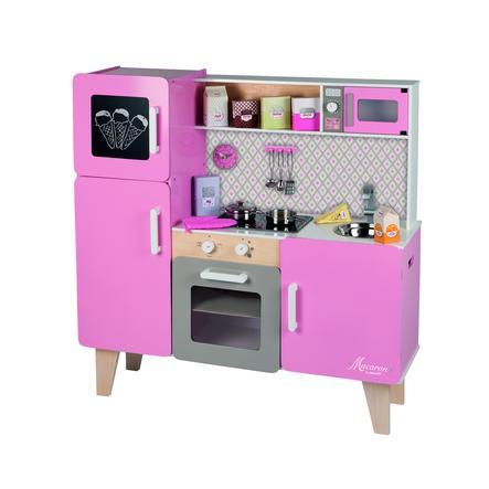 Janod Dřevěná dětská maxi kuchyňka Macaron