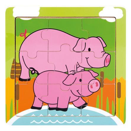 Bino Holz-Puzzle Schweinchen