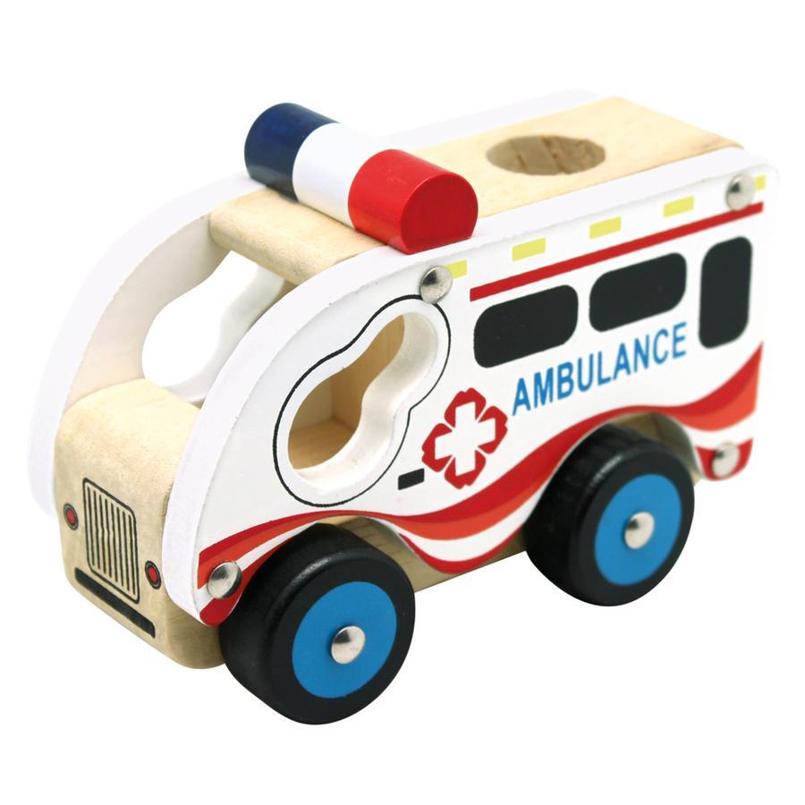 Bino Holzauto Krankenwagen