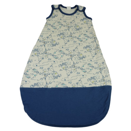 DIMO-TEX Schlafsack Weltkarte blau
