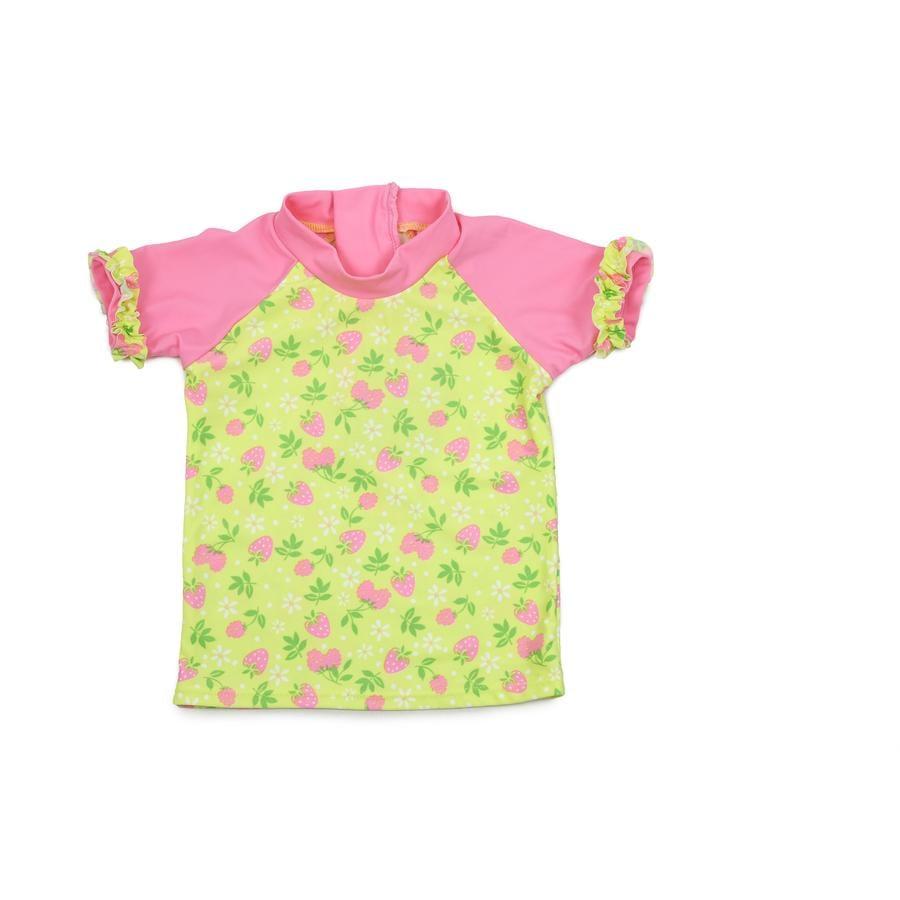 DIMO Bade-Shirt Blumen gelb