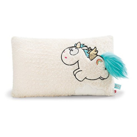 NICI Cuscino Unicorno Rainbow Flair con ali, 43x25cm