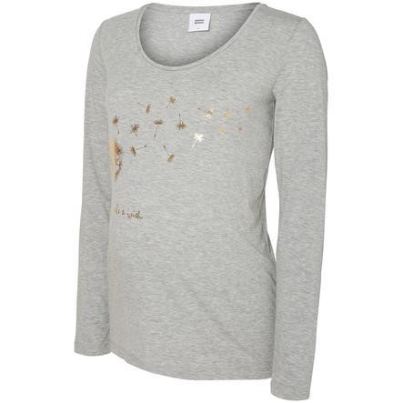 mama licious Overhemd met lange mouwen MLDANDELION Lichtgrijs Melange