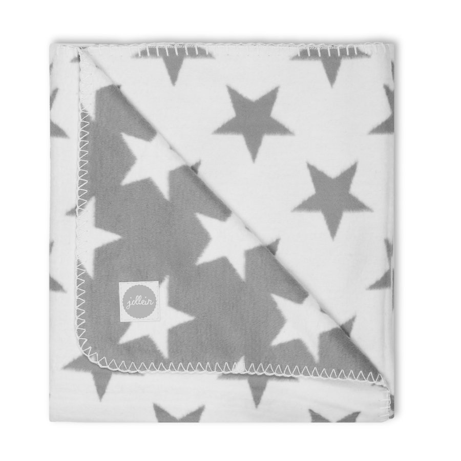 jollein Decke Little star grau 100x150cm