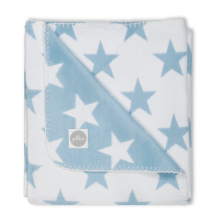 jollein Decke Little star blau 100x150cm