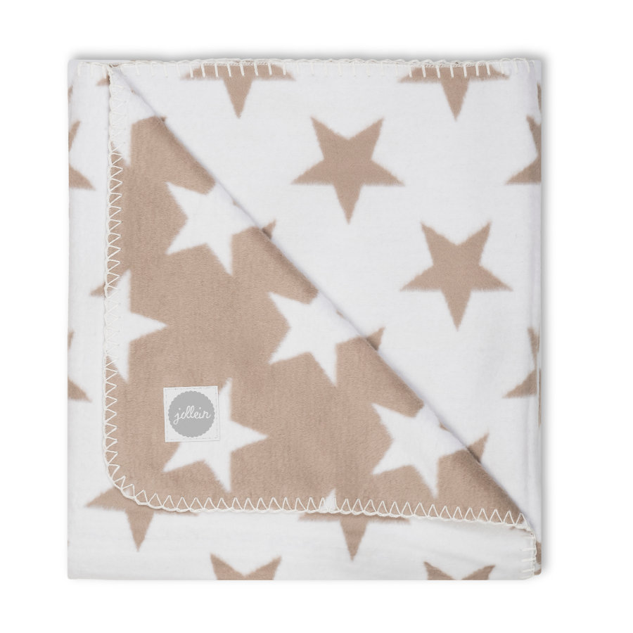 jollein Decke Little star sand 100x150cm