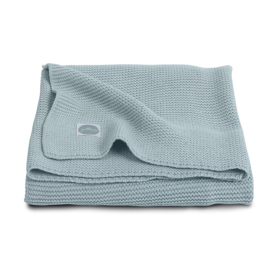jollein Couverture tricot bébé vert 75 x 100 cm