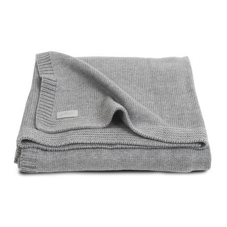 jollein Couverture tricot bébé Natural gris 75 x 100 cm