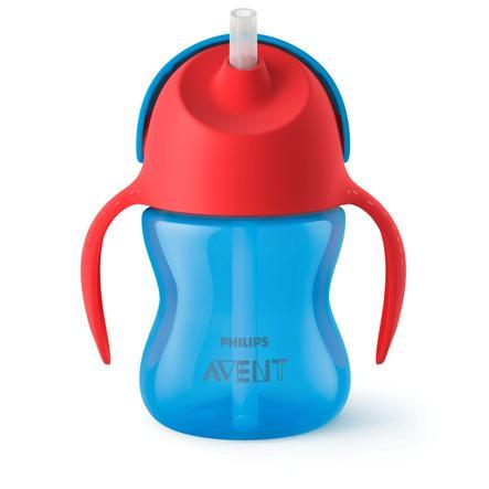 Philips Avent Vaso con pajita SCF796 / 01 azul / rojo 200 ml 9M +