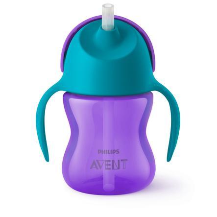Philips Avent Tasse enfant paille SCF796/02 200 ml 9 M+, turquoise/violet