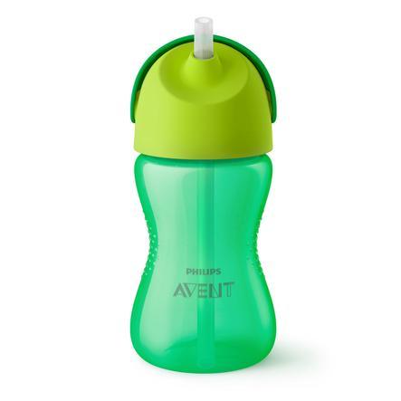 Philips Avent hrníček s brčkem  SCF798/01 300 ml 12m+ zelený