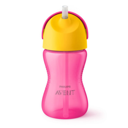 Philips Avent Tasse enfant paille SCF798/02 300 ml 12 M+, rose