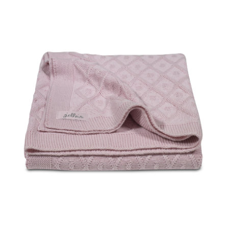 jollein Strikket babyteppe Diamond vintage pink 100x150cm