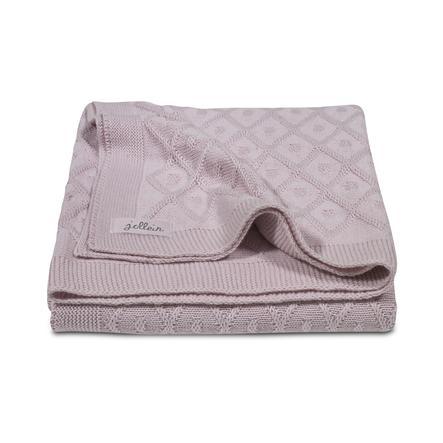 jollein Strikket tæppe Diamond vintage pink 100x150cm