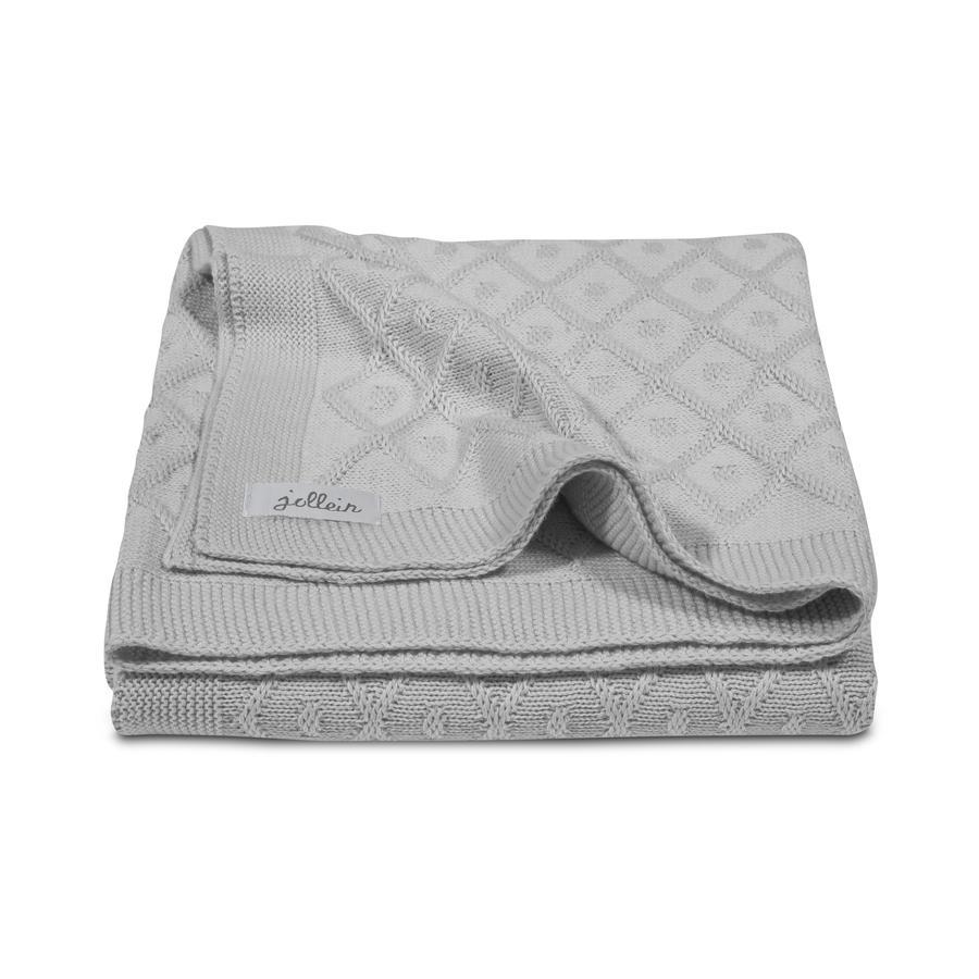 jollein Coperta a maglia Diamond grey 100x150cm