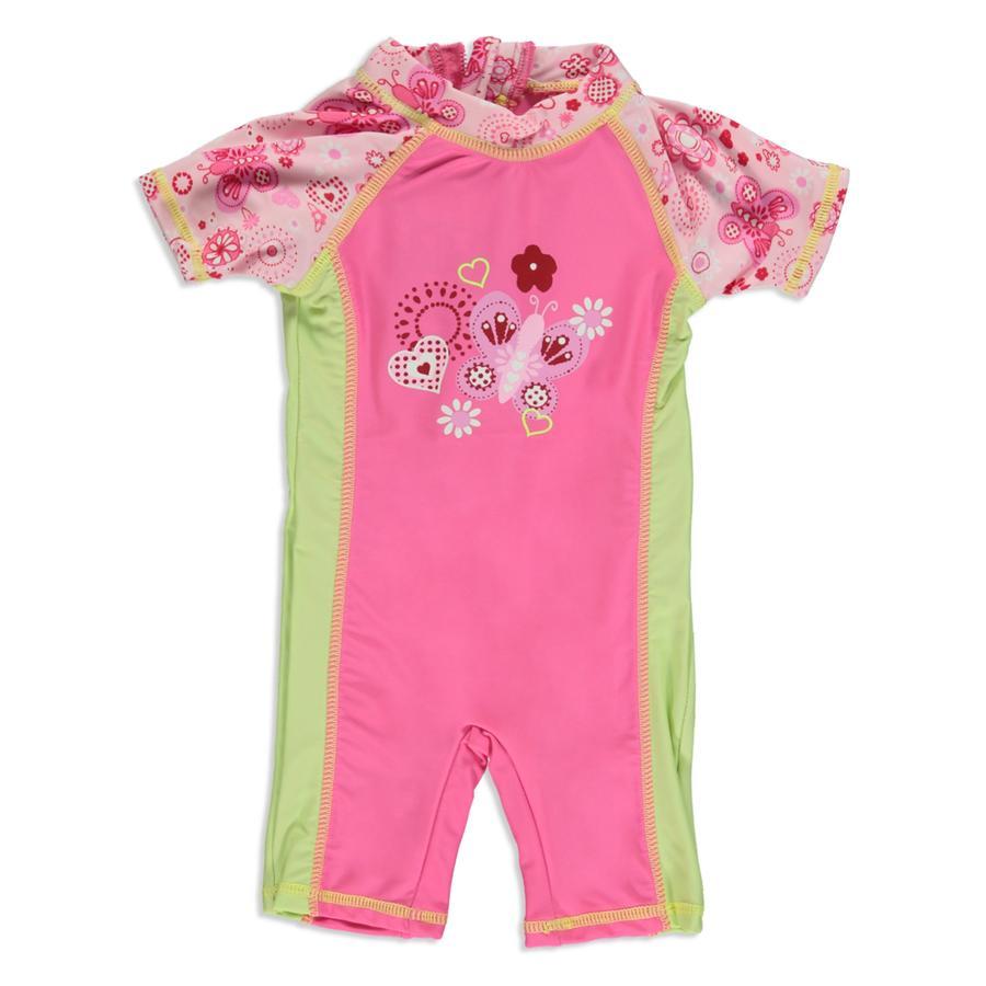 DIMO UV-Schutz Badeanzug pink Schmetterling