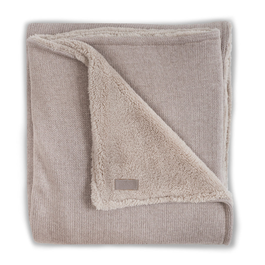 Jollein Deken Winter Natural Knit sand / teddy 100 x 150cm