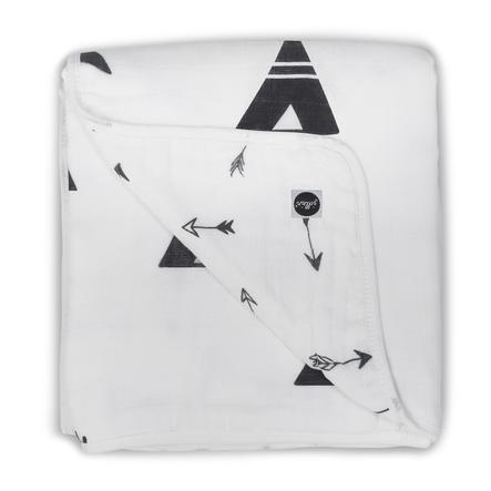 jollein manta de succión star 120x120cm indians black y white