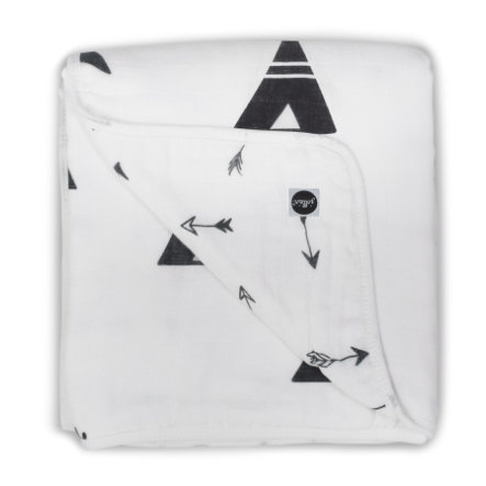 jollein Panno multiuso 120x120cm Indians black and white