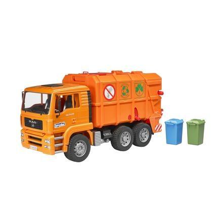 Bruder 2760 Nákladní auto MAN popeláři - oranžové