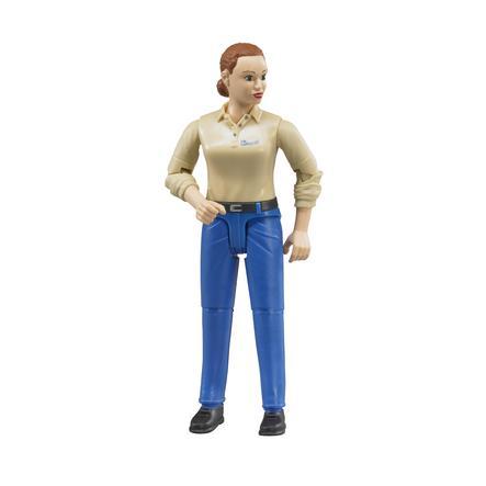 bruder® Figura de mujer con vaqueros azules 60408
