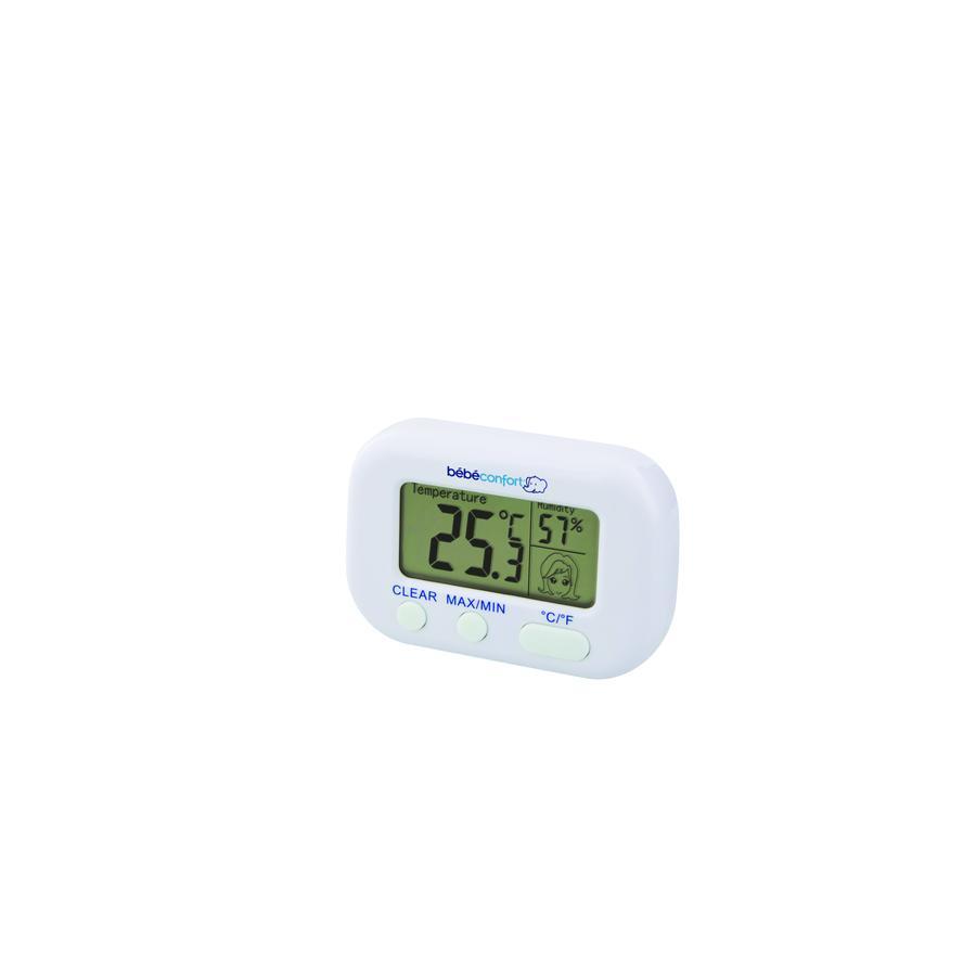 Bébé Confort Thermomètre hygromètre  2 en 1, blanc
