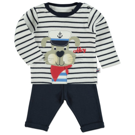 BLUE SEVEN Boys Set 2-tlg. Hund gestreift blau