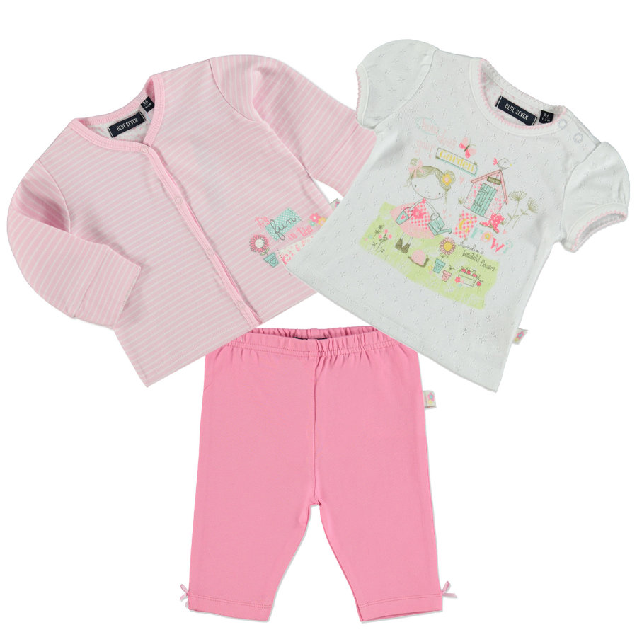 BLUE SEVEN Girls Set 3-tlg.  rosa
