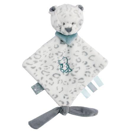 Nattou Lea, Loulou & Hippolyte - Mini-knuffeldoek sneeuwluipaard