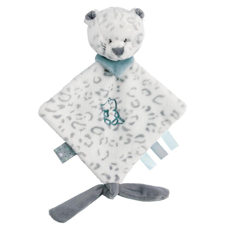 Nattou Lea, Loulou & Hippolyte - Mini-Szmacianka Przytulanka Leopard biały