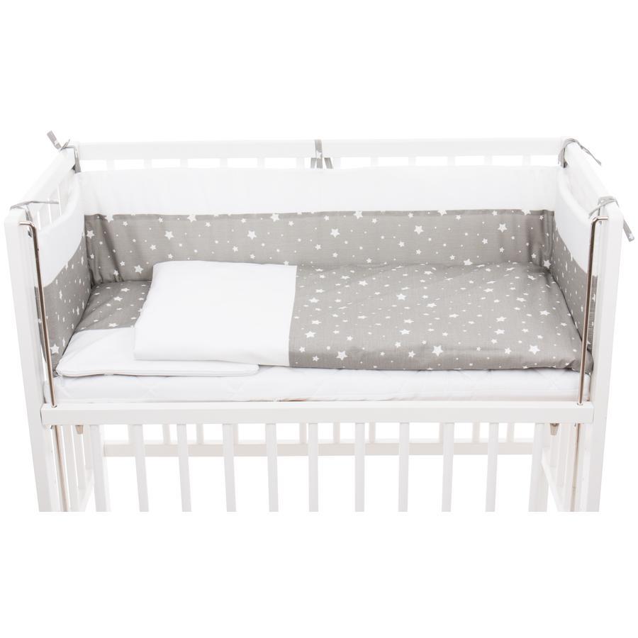 fillikid Kit parure de lit complet pour lit cododo Cocon étoiles gris