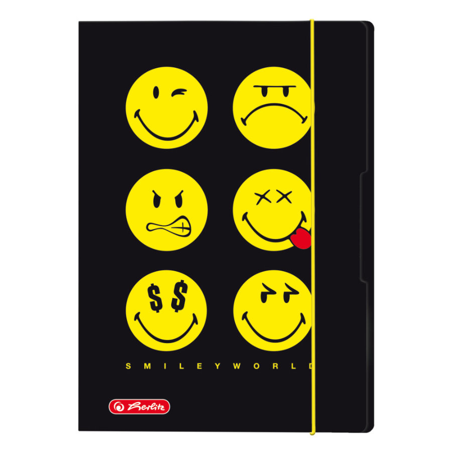 herlitz Classeur enfant A3 Smiley World Black