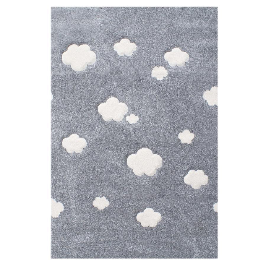 LIVONE Barnmatta Love Rugs - silvergrå 120 x 180 cm