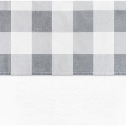 jollein Lakan Check grå 120x150cm