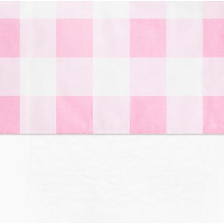 jollein Foglio Check rosa 120x150cm
