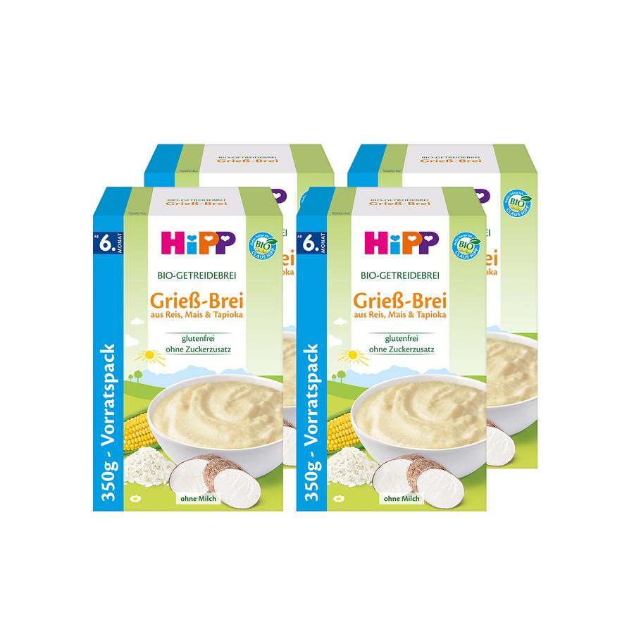 HiPP Bio-Getreidebrei Grießbrei 4 x 350 g ab dem 8. Monat