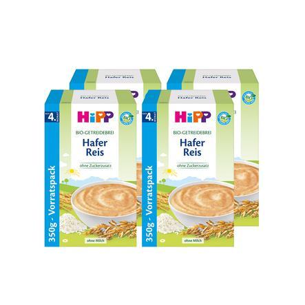 HiPP Bio-Getreidebrei Hafer-Reis 4 x 350 g ab dem 4. Monat